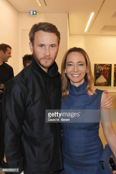 Peter Hawkings and Whitney Bromberg Hawkings attend the Cerruti 1881 50th anniversary film premiere at The Serpentine Sackler Gallery on October 25...