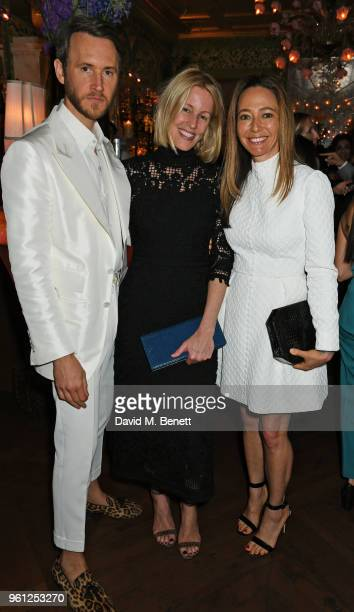 Peter Hawkings Sydney IngleFinch and Whitney Bromberg Hawkings attends the Annabel's x Dior dinner on May 21 2018 in London England