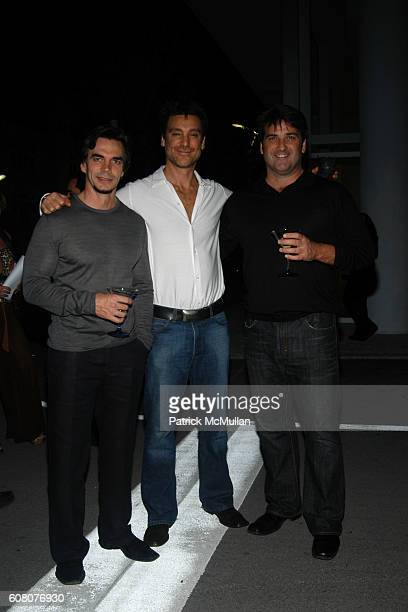 Peter Hawrylewicz Michael T Weiss and Ken Lieber attend Guillermo Kuitca Cocktail Party Hosted by Craig Robins at Aqua Residence Complex on December...