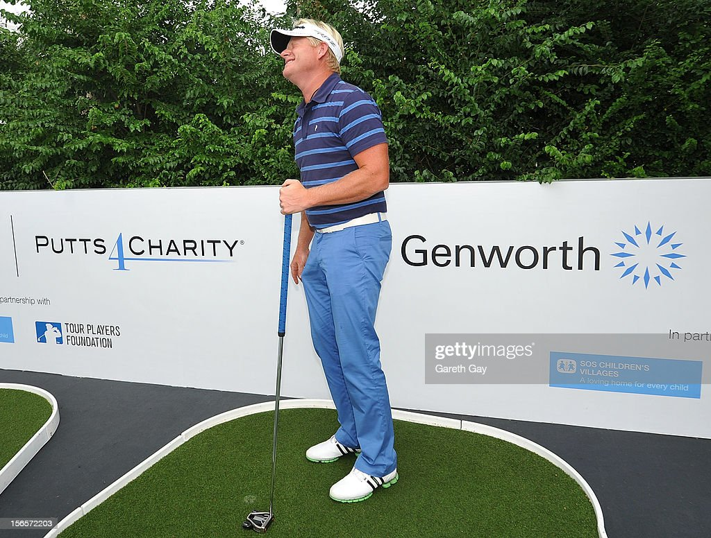 Peter Hedblom takes part in a Genworth Putts 4 Charity event during the third round of UBS golf tournament the Hong Hong Open at Hong Kong Golf Club on November 17, 2012 in Hong Kong.