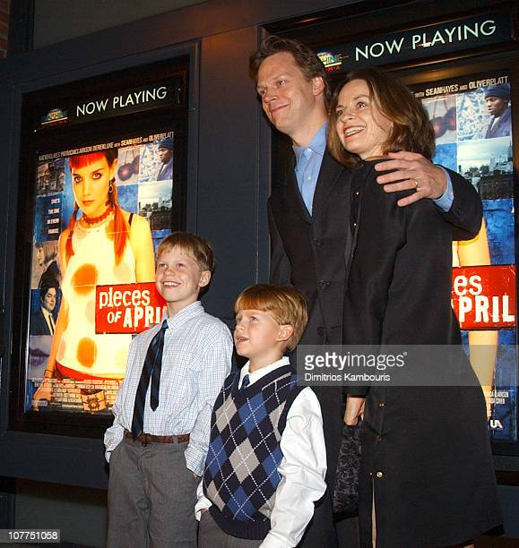 Peter Hedges and his family during 'Pieces of April' New York City Premiere at Landmark's Sunshine Theater in New York City New York United States
