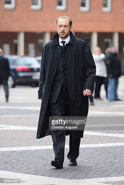Peter Heinrich Brix attends Dieter Pfaff's Memorial Service at St. Michaelis Kirche on April 5, 2013 in Hamburg, Germany.