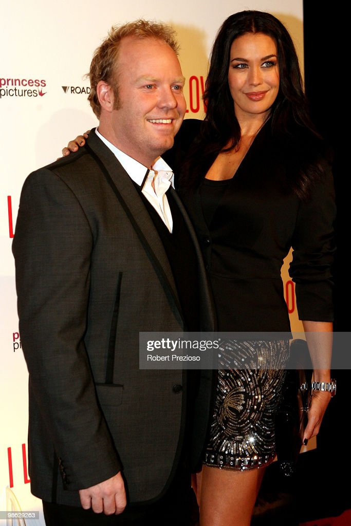 Peter Hellier and Megan Gale attend the premiere of 'I Love You Too' at Village Jam Factory on April 23, 2010 in Melbourne, Australia.