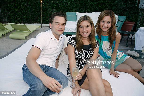 Peter Herink Rachel Brill and Abigail Klem attend Launch of Diane von Furstenberg Soleil Swim and Beach Collection at The Delano on July 13 2007