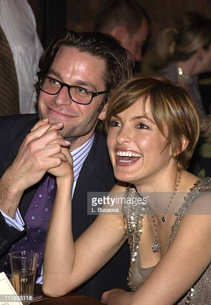 Peter Herman and Mariska Hargitay during Entertainment Weekly 9th Annual Academy Awards Viewing Party at Elaine's in New York City New York United...