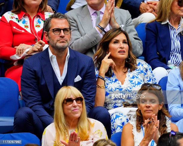 Peter Hermann and Mariska Hargitay at 2019 US Open Final on September 08, 2019 in New York City.