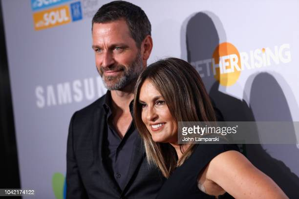 Peter Hermann and Mariska Hargitay attend 2018 Samsung Charity Gala at The Manhattan Center on September 27 2018 in New York City