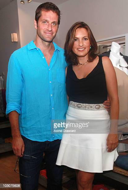 Peter Hermann and Mariska Hargitay attend a cocktail party to celebrate the opening of Michael Stars hosted by Hamptons Magazine, The Joyful Heart...