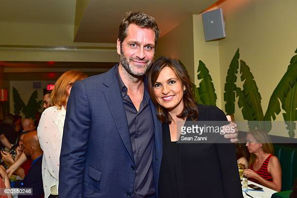 Peter Hermann and Mariska Hargitay attend MeRo celebrates 25th anniversary at Indochine on October 20 2016 in New York City