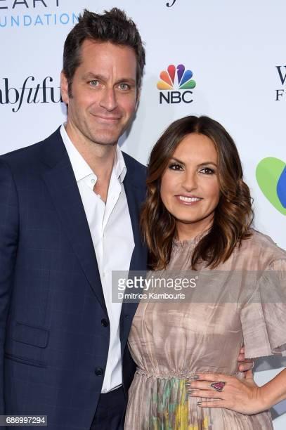 Peter Hermann and Mariska Hargitay attend The Joyful Revolution Gala In New York City hosted by Mariska Hargitay's Joyful Heart Foundation on May 22...