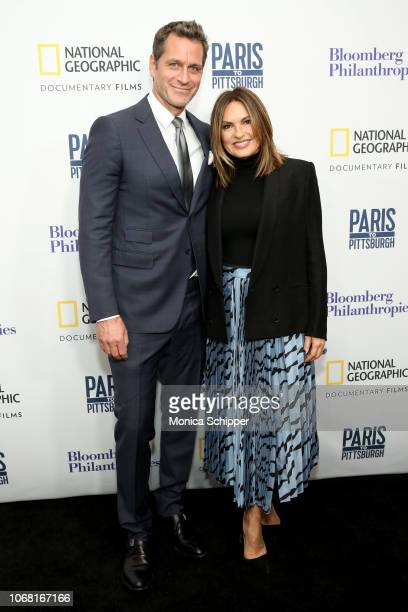 Peter Hermann and Mariska Hargitay attend the New York Premiere of Paris to Pittsburgh hosted by Bloomberg Philanthropies RadicalMedia at The Film...