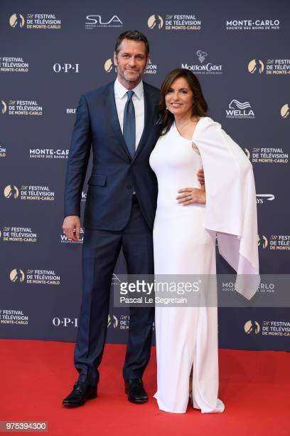 Peter Hermann and Mariska Hargitay attend the opening ceremony of the 58th Monte Carlo TV Festival on June 15 2018 in MonteCarlo Monaco
