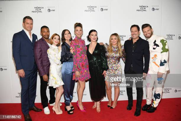 Peter Hermann Charles Michael Davis Molly Kate Bernard Miriam Shor Sutton Foster Debi Mazar Hilary Duff Darren Star and Nico Tortorella and pose for...