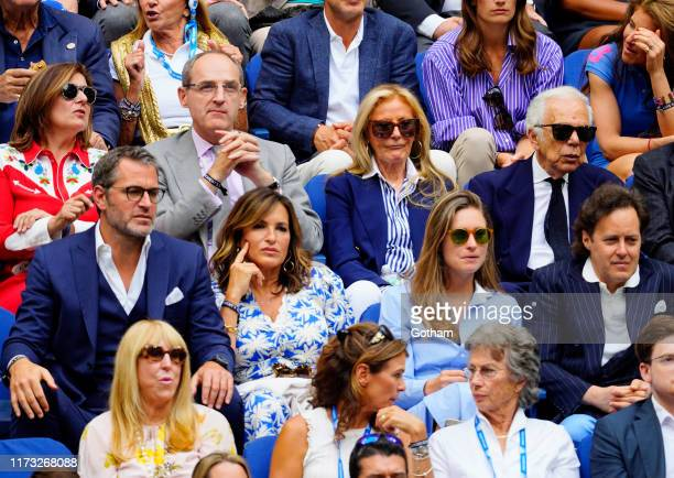 Peter Hermann, Mariska Hargitay, Ricky Anne Lowe-Beer, Ralph Lauren, Lauren Bush Lauren and David Lauren at 2019 US Open Final on September 08, 2019...
