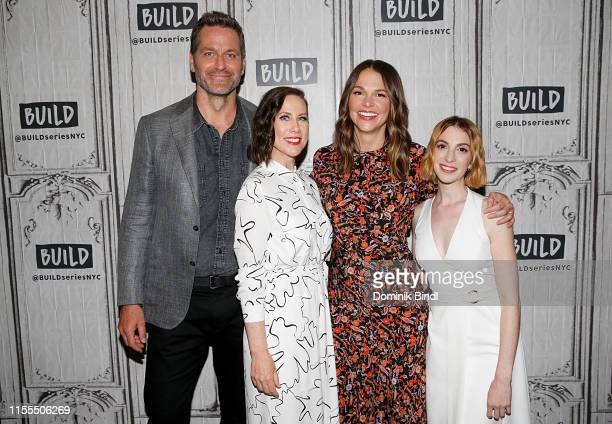 Peter Hermann, Miriam Shor, Sutton Foster and Molly Bernard attend the Build Series to discuss 'Younger' at Build Studio on June 12, 2019 in New York...