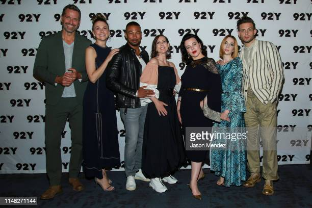 Peter Hermann Sutton Foster Charles Michael Davis Miriam Shor Debi Mazar Molly Bernard and Nico Tortorella at 92nd Street Y on June 5 2019 in New...