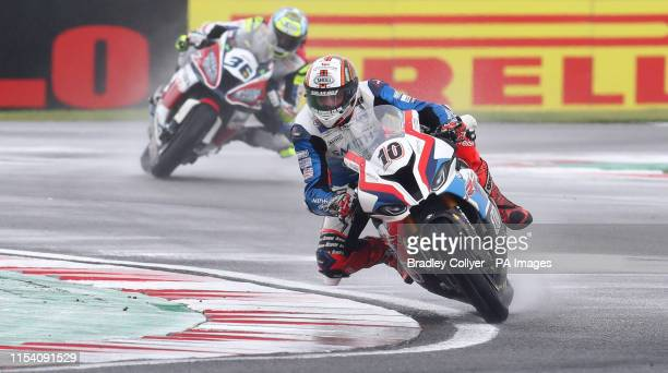 Peter Hickman in action during race day one of the British Grand Prix of the Motul FIM Superbike World Championship at Donington Park