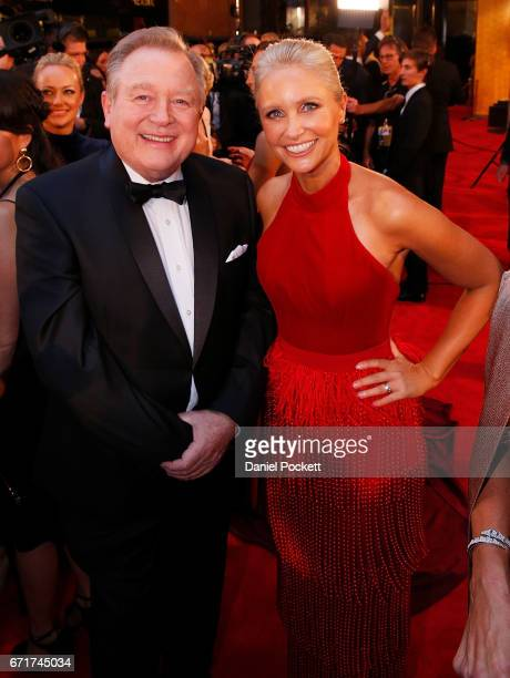 Peter Hitchener and Livinia Nixon arrive at the 59th Annual Logie Awards at Crown Palladium on April 23 2017 in Melbourne Australia