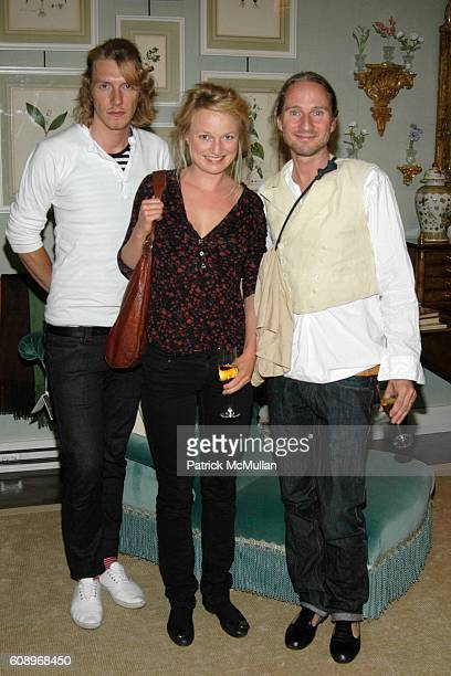 Peter Hjorth Lena Osterpalle and Leaf attend RACHEL ROY Fall 2007 Collection Preview Party at The Townhouse at 20 East 63rd Street on May 17 2007 in...