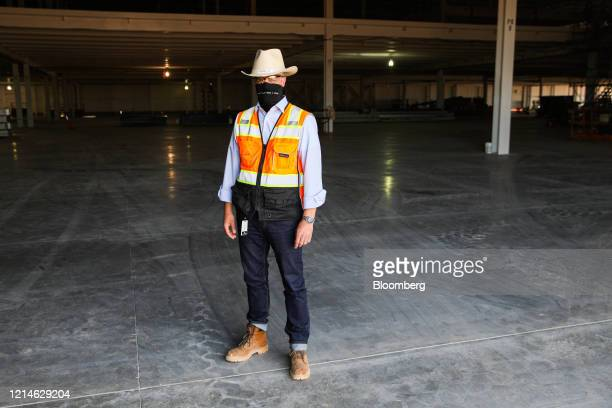 Peter Hochholdinger, vice president of manufacturing for Lucid Motors Inc., stands for a photograph at the company's manufacturing facility in Casa...