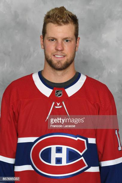 Peter Holland of the Montreal Canadiens poses for his official headshot for the 20172018 season on September 14 2017 at the Bell Sports Complex in...