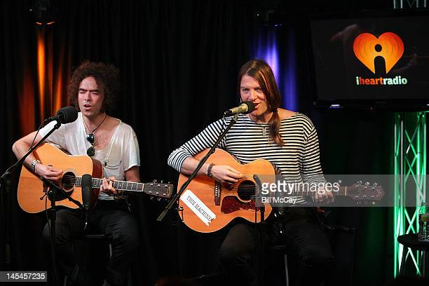 Peter Holmstrom and Courtney TaylorTaylor from the band The Dandy Warhols perform at Radio Staion 1045 iHeartRadio Performance Theater May 30 2012 in...
