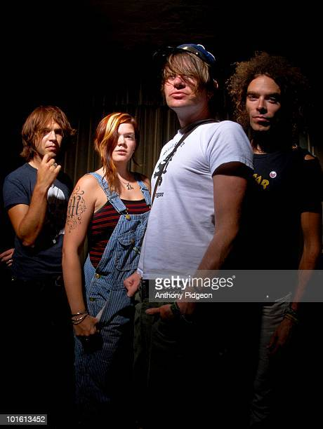 Peter Holmstrom Zia McCabe Courtney TaylorTaylor and Brent De Boer of the Dandy Warhols pose for a studio group portrait in September 2006 in...