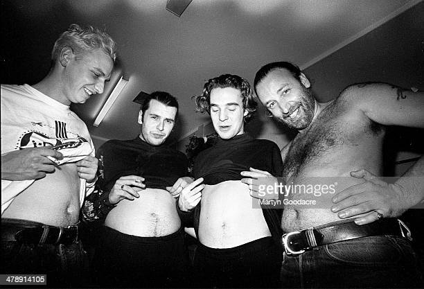 Peter Hook backstage during a tour with his band Revenge United Kingdom 1990