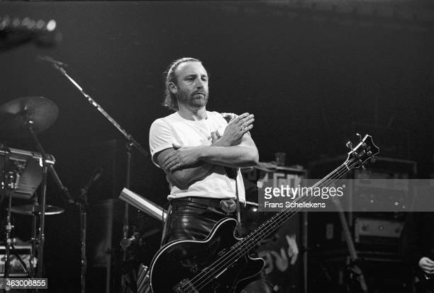Peter Hook bass performs with Revenge at the Paradiso in Amsterdam the Netherlands on 24th February 1990