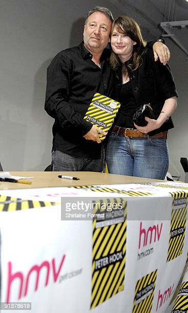 Peter Hook greets fans and signs his book 'The Hacienda How Not To Run A Club' at HMV on October 3 2009 in Manchester England