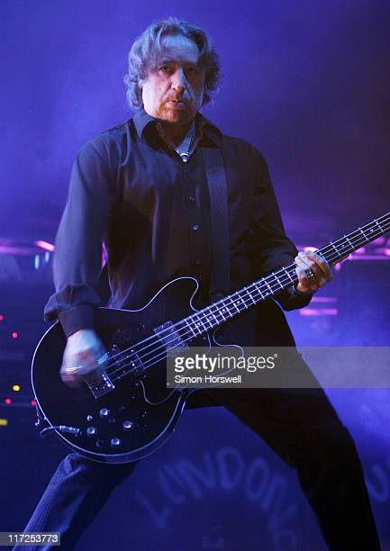 Peter Hook of New Order during New Order Concert in London October 27 2006 at Wembley Arena in London Great Britain