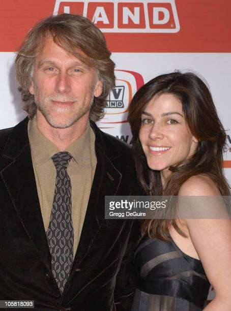Peter Horton and guest during 4th Annual TV Land Awards - Arrivals at Barker Hangar in Santa Monica, California, United States.