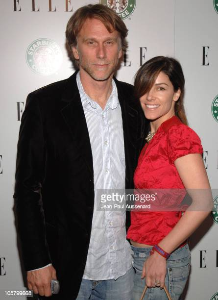 Peter Horton and guest during ELLE 1st Green Issue Launch Party - Arrivals at Pacific Design Center in West Hollywood, California, United States.