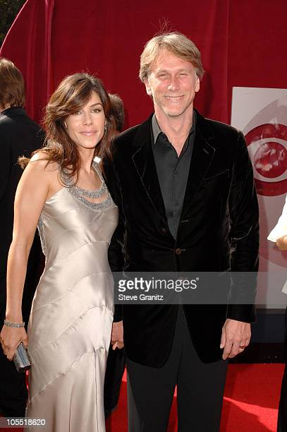 Peter Horton and guest during The 57th Annual Emmy Awards - Arrivals at Shrine Auditorium in Los Angeles, California, United States.