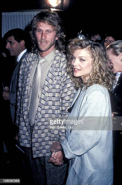 "Peter Horton and Michelle Pfeiffer during Premiere of ""Sweet Liberty"" - April 22, 1986 at Samuel Goldwyn Theater in Beverly Hills, California, United..."