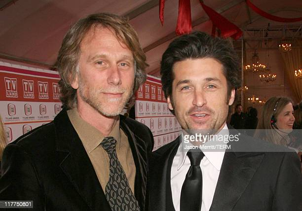 Peter Horton and Patrick Dempsey during 2006 TV Land Awards - Arrivals at Barker Hangar in Santa Monica, California, United States.