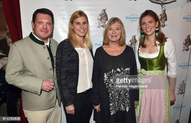 Peter Hubert Anke Huber Jutta Speidel and Caterina Hubert during the Eagles New Year's Reception on February 4 2018 in RottachEgern Germany