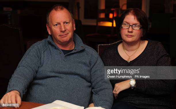 Peter Hunter from Durham who was reunited with wife Kerry in the early hours today after he spent days in hiding at a secret location during the...
