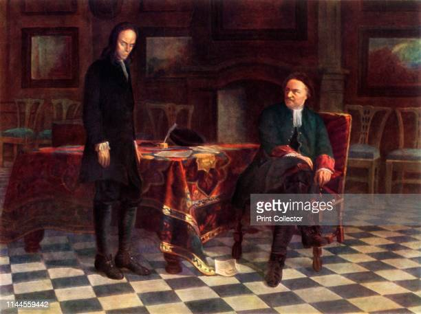 Peter I Interrogates Tsarevich Alexei Petrovich' Alexei Petrovich Tsarevich of Russia is grilled by his father Tsar Peter I Alexei was condemned to...