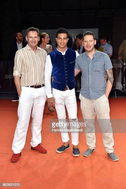 Peter Illmann Marco Kreuzpaintner and his husband Gilardi attend the 'Berlin Falling' Premiere during Munich Film Festival 2017 at Gasteig on June 28...