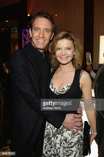 Peter Imhof and Eva Schulz attend the 'Movie Meets Media' as part of the 59th Berlin Film Festival at the Ritz Carlton Hotel on February 6, 2009 in...
