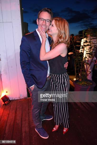 Peter Imhof and his wife Eva Imhof attend the BUNTE New Faces Award Film at Spindler & Klatt on April 26, 2018 in Berlin, Germany.