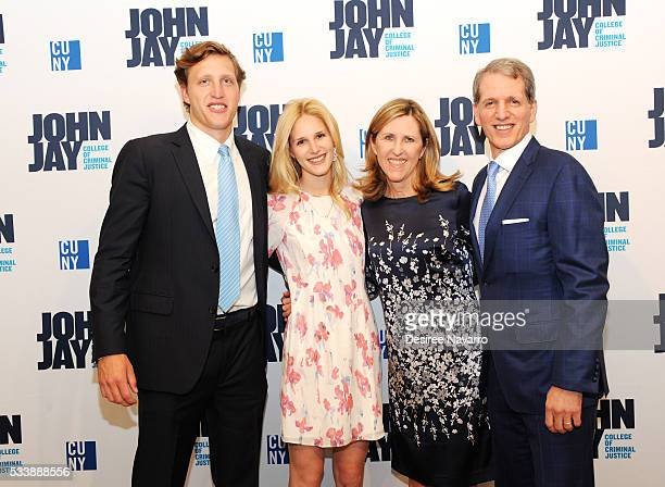 Peter J Beshar Executive Vice President and General Counsel of Marsh McLennan with his wife Sarah Beshar daughter Isabelle Beshar and son Henry...