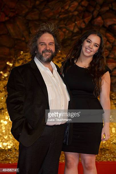 Peter Jackson and Katie Jackson attend the German premiere of the film 'The Hobbit: The Desolation Of Smaug' at Sony Centre on December 9, 2013 in...