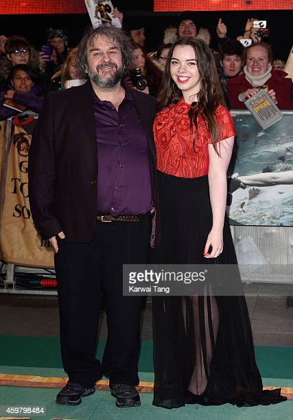 """Peter Jackson and Katie Jackson attend the World Premiere of """"The Hobbit: The Battle OF The Five Armies"""" at Odeon Leicester Square on December 1,..."""
