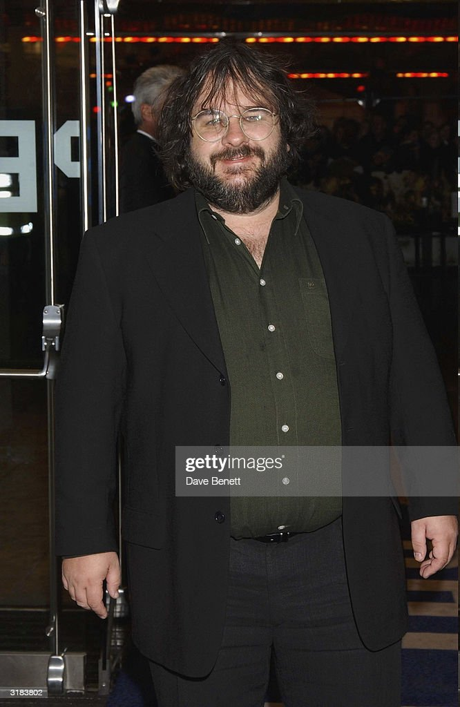 Peter Jackson attends the UK Premiere of 'Lord Of The Rings Return of The King' at the Odeon, Leicester Square on December 11, 2003 in London.