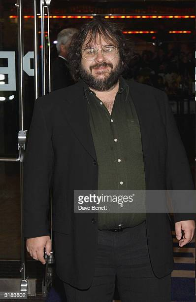 Peter Jackson attends the UK Premiere of 'Lord Of The Rings Return of The King' at the Odeon Leicester Square on December 11 2003 in London