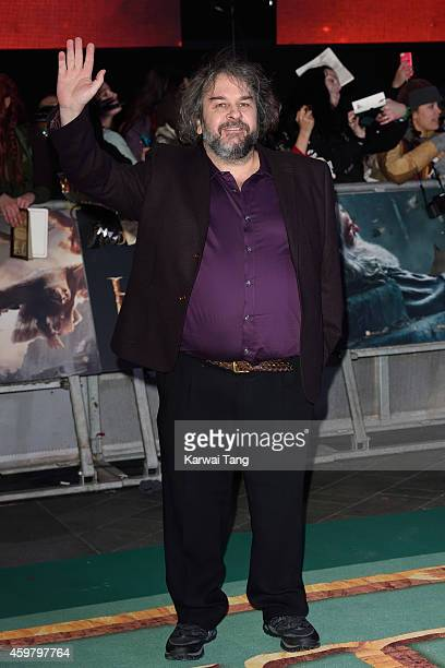"""Peter Jackson attends the World Premiere of """"The Hobbit: The Battle OF The Five Armies"""" at Odeon Leicester Square on December 1, 2014 in London,..."""