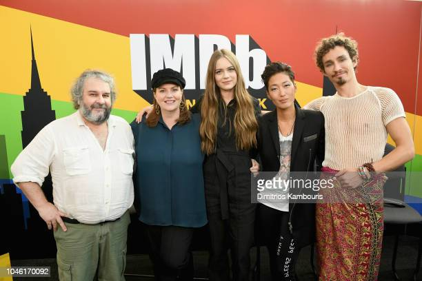 Peter Jackson Philippa Boyens Hera Hilmar Jihae and Robert Sheehan of 'Mortal Engines' attend IMDb at New York Comic Con Day 1 at Javits Center on...