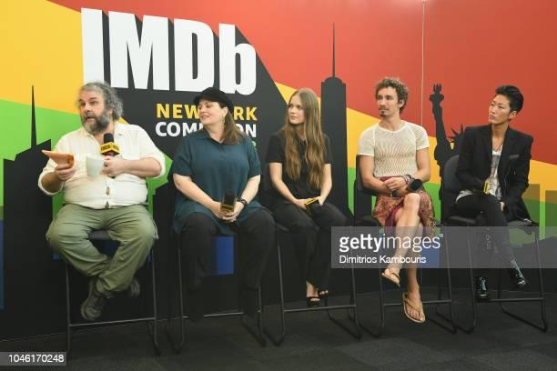 Peter Jackson Philippa Boyens Hera Hilmar Robert Sheehan and Jihae of 'Mortal Engines' attend IMDb at New York Comic Con Day 1 at Javits Center on...
